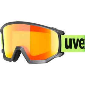 UVEX Athletic CV Goggles, black mat/colorvision orange storm